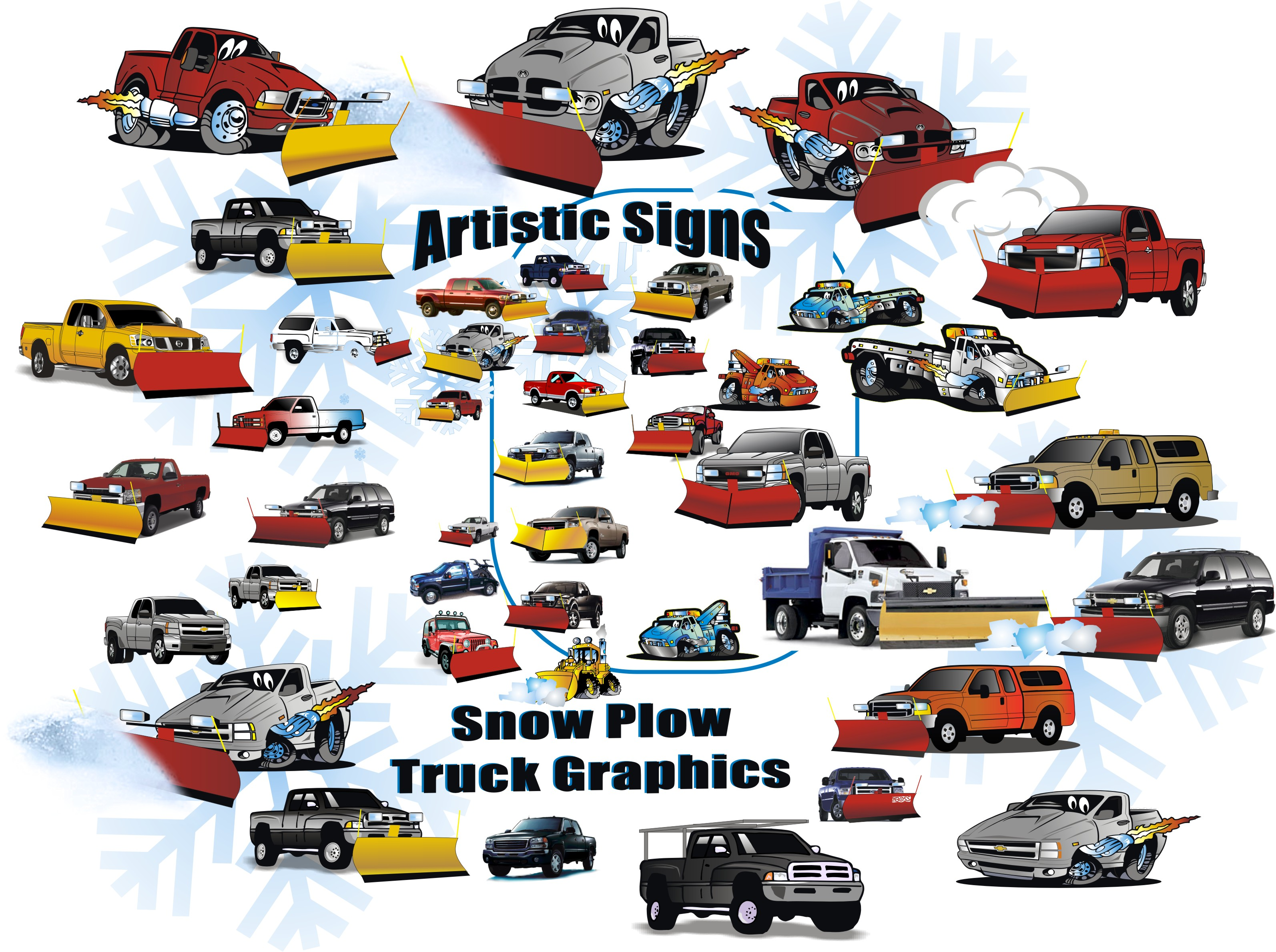 Snow Plow Signs & Decals